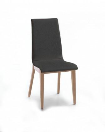 Jídelní židle Cruz (dub / látka carabu tmavě šedá)
