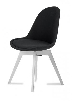 Jídelní židle Donna Bess (sedák černá / konstrukce bílá)