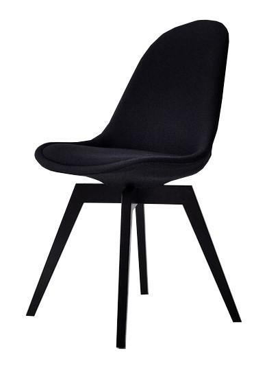 Jídelní židle Donna Bess (sedák černá / konstrukce černá)