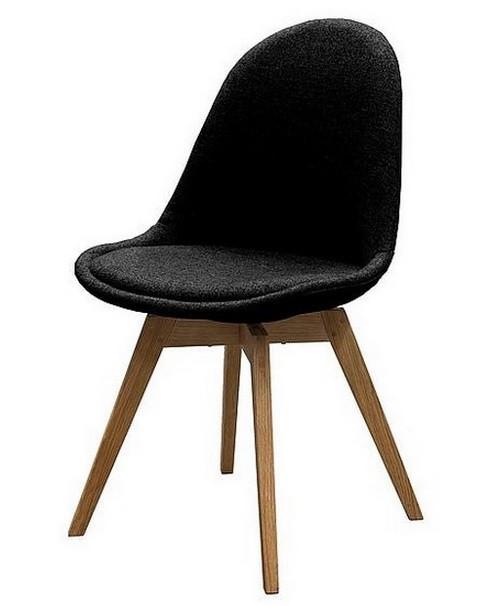 Jídelní židle Donna Bess (sedák černá / konstrukce dub)