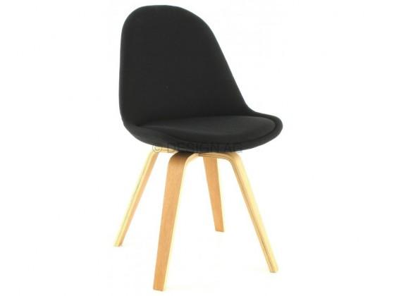 Jídelní židle Donna Ella (sedák černá / konstrukce dub)