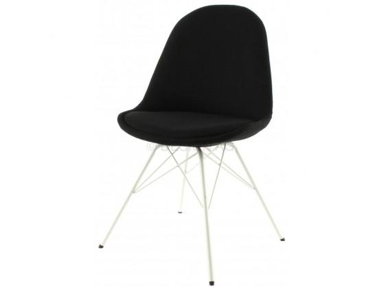 Jídelní židle Donna Porgy (sedák černá / konstrukce bílá)