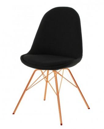 Jídelní židle Donna Porgy (sedák černá / konstrukce měď)