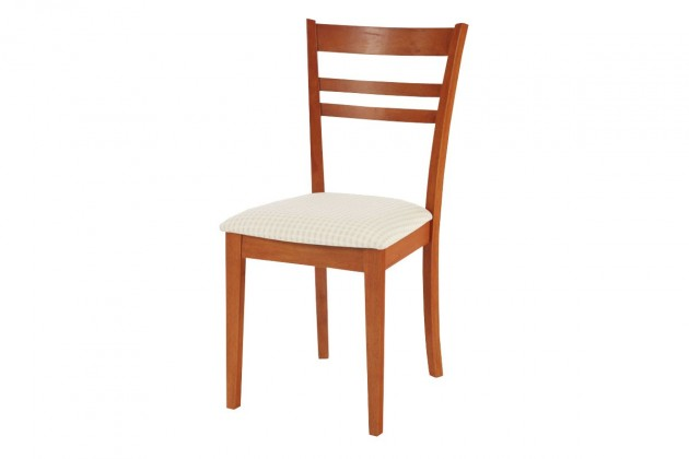 Jídelní židle DORGALI(kaučukovník, moření třešeň,potah světlý)