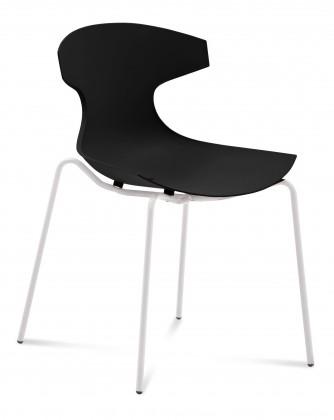 Jídelní židle Echo - Jídelní židle (bílý lak, černá)