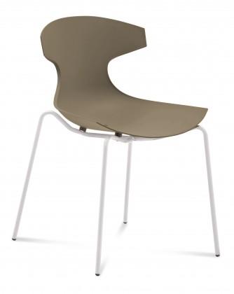 Jídelní židle Echo - Jídelní židle (bílý lak, písková)