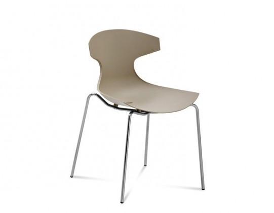 Jídelní židle Echo - Jídelní židle (chrom, písková)