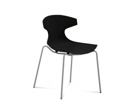 Jídelní židle Echo - Jídelní židle (hliník, černá)