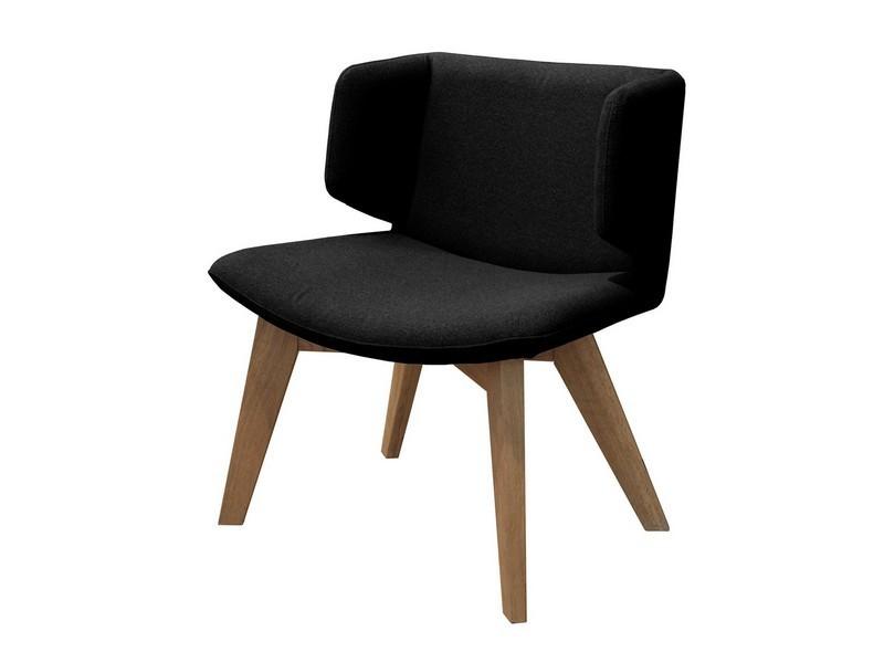 Jídelní židle Eros - Jídelní křesílko (dub, látka černá)
