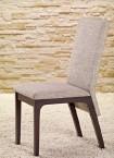 Jídelní židle Fabrizio (wenge/šedá) - II. jakost