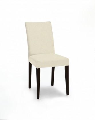 Jídelní židle Fernanda (černá / látka carabu světle béžová)
