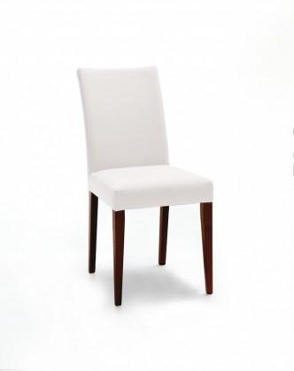 Jídelní židle Fernanda (čokoládový jasan / eko kůže vienna krémová)