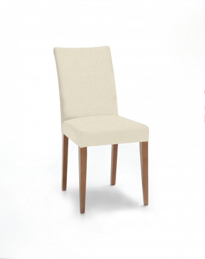 Jídelní židle Fernanda (dub / látka carabu světle béžová)