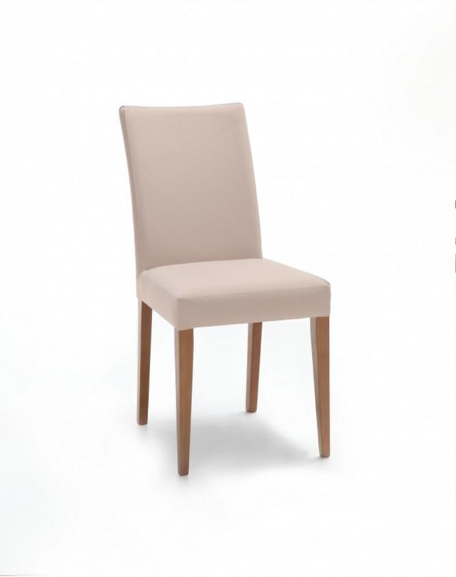 Jídelní židle Fernanda (dub / látka navara světle béžová)