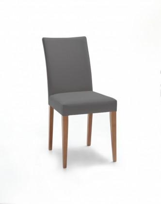 Jídelní židle Fernanda (dub / látka navara tmavě šedá)