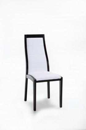 Jídelní židle Floreana (černá / eko kůže vienna bílá)