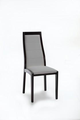 Jídelní židle Floreana (černá / látka carabu šedá)