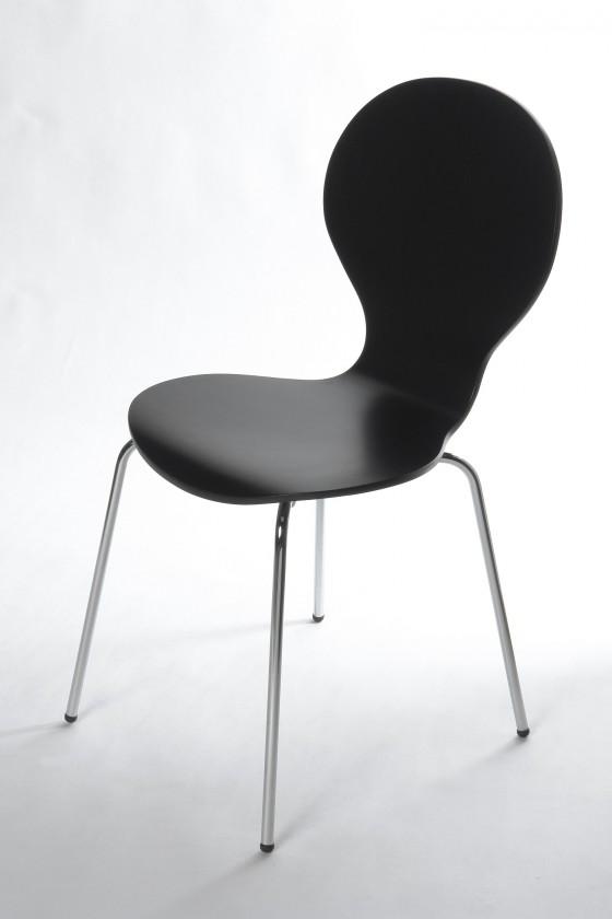 Jídelní židle Flower - Jídelní židle (černá)