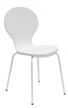 Jídelní židle Flower - Jídelní židle, sedák (bílá, eko kůže)