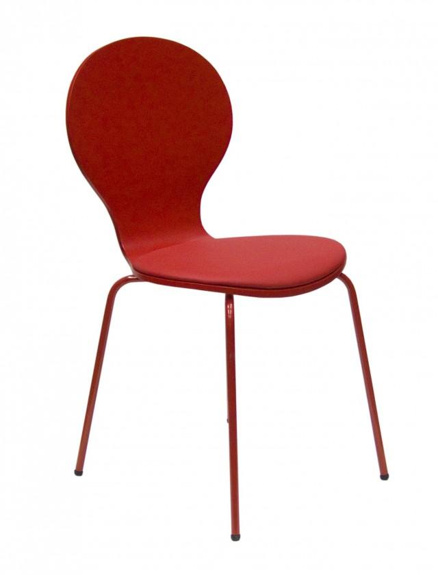 Jídelní židle Flower - Jídelní židle, sedák (červená, eko kůže)