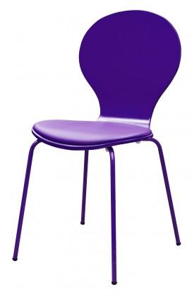 Jídelní židle Flower - Jídelní židle, sedák (fialová, eko kůže)