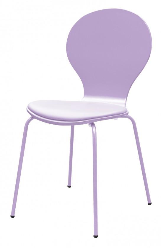 Jídelní židle Flower - Jídelní židle, sedák (lila, eko kůže)