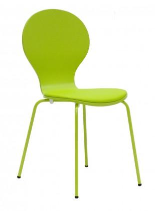 Jídelní židle Flower - Jídelní židle, sedák (limetková, eko kůže)