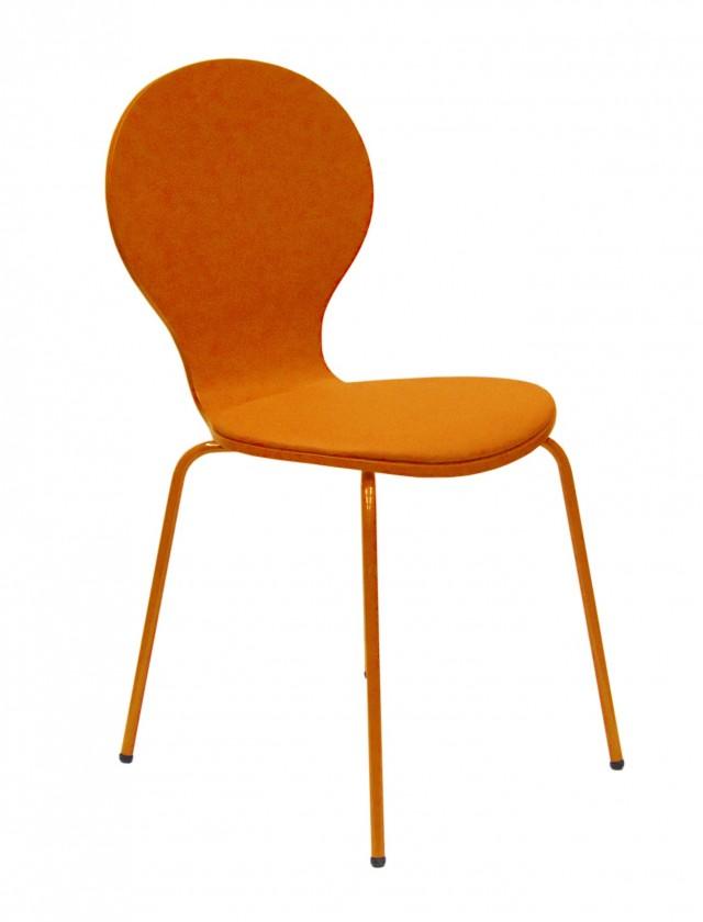 Jídelní židle Flower - Jídelní židle, sedák (oranžová, eko kůže)