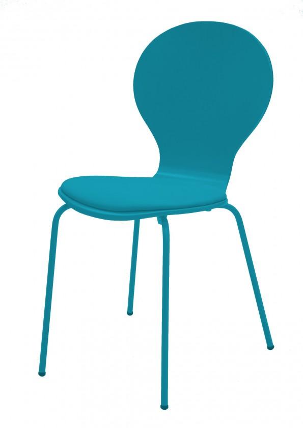 Jídelní židle Flower - Jídelní židle, sedák (petrolejová, eko kůže)
