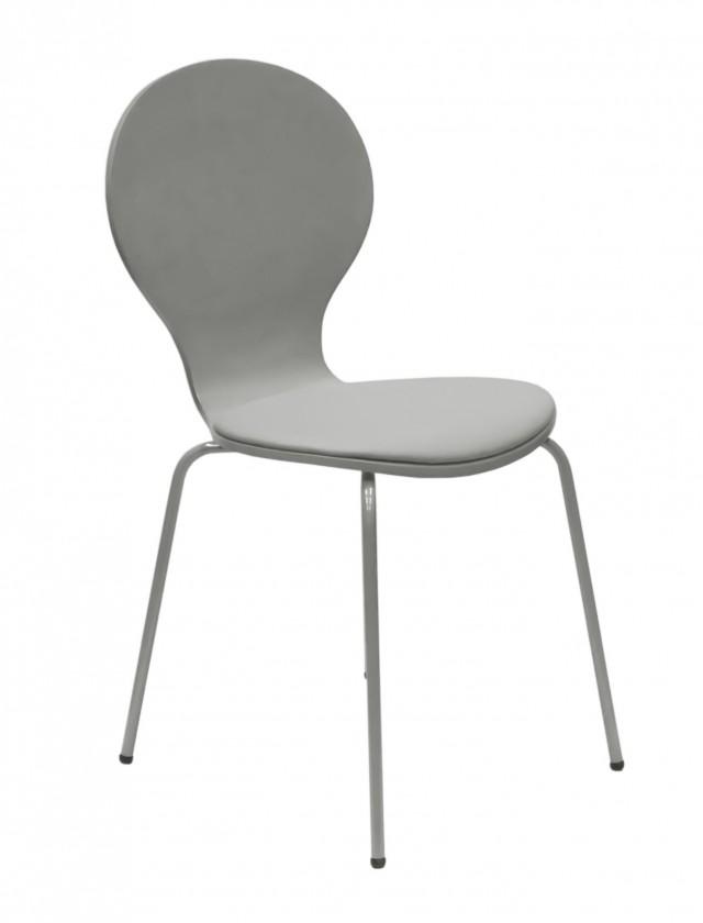 Jídelní židle Flower - Jídelní židle, sedák (šedá, eko kůže)