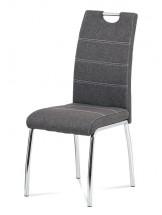 Jídelní židle Gasela šedá/chrom