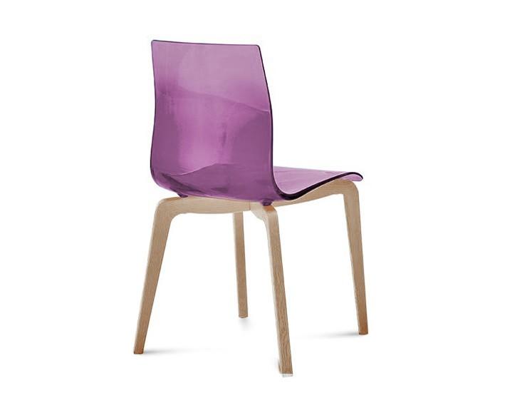 Jídelní židle Gel-L - Jídelní židle (bílá ashwood, fialová)