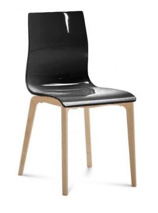 Jídelní židle Gel-l - Jídelní židle (černá lesk)