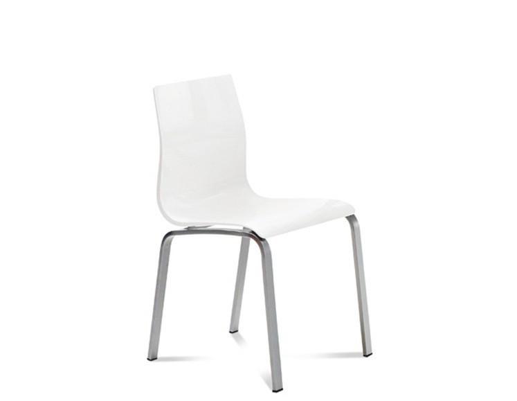 Jídelní židle Gel-R - Jídelní židle (hliník, bílá)