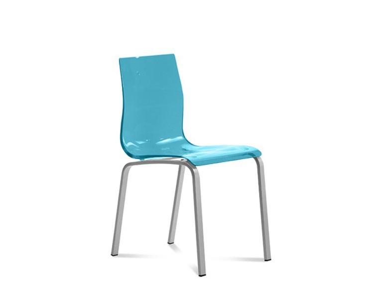 Jídelní židle Gel-R - Jídelní židle (hliník, světle modrá)