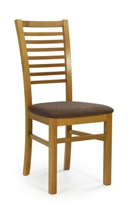 Jídelní židle Gerard 6 (olše,látka hnědá)