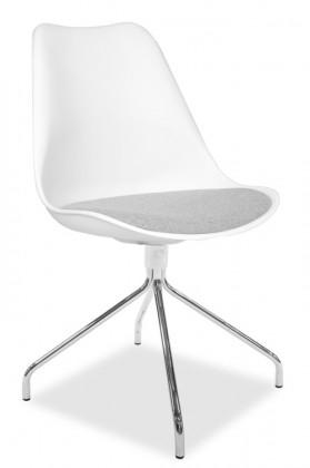 Jídelní židle GINA 9301-413+EGO 9319-091 (bílá,šedá,chrom)