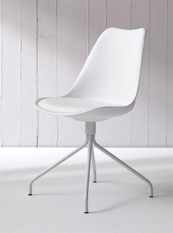 Jídelní židle GINA 9301-801+EGO 9319-801 (bílá)