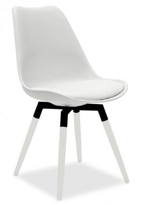 Jídelní židle GINA 9301-801+FIDO 9315-101 (bílá,černá)