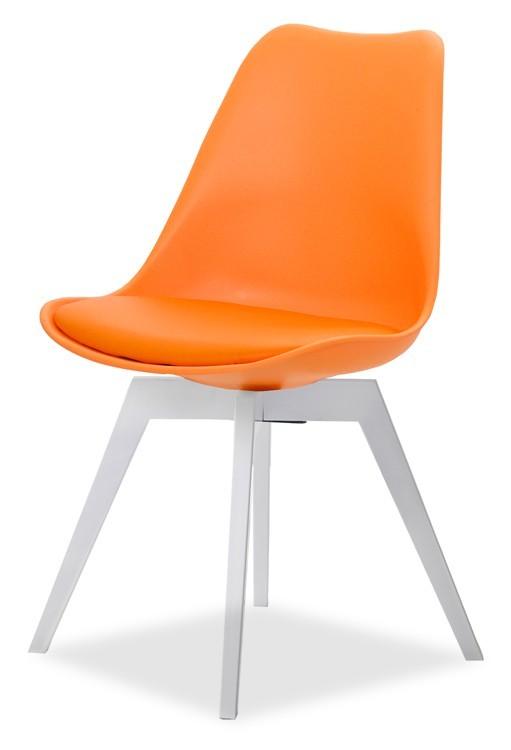 Jídelní židle GINA 9301-817+BESS 9317-001 (oranžová,bílá)
