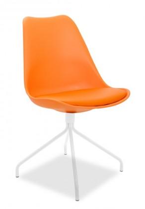 Jídelní židle GINA 9301-817+EGO 9319-801 (oranžová,bílá)
