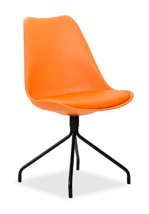 Jídelní židle GINA 9301-817+EGO 9319-824 (oranžová,černá)