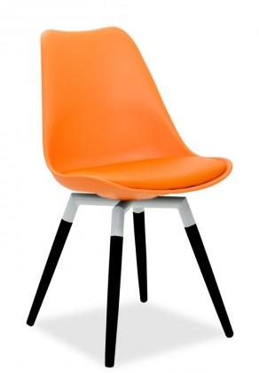 Jídelní židle GINA 9301-817+FIDO 9315-424 (oranžová,bílá,černá)