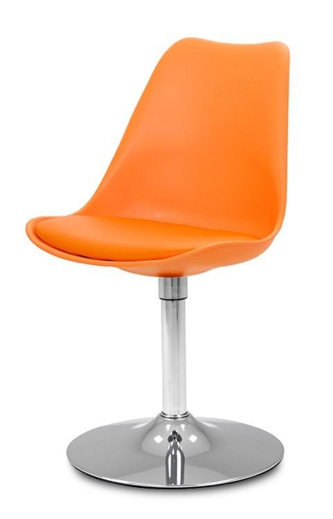 Jídelní židle GINA 9301-817+TRUMPET 9341-091 (oranžová,chrom)