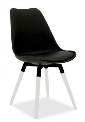 Jídelní židle GINA 9301-824+FIDO 9315-101 (černá,bílá)