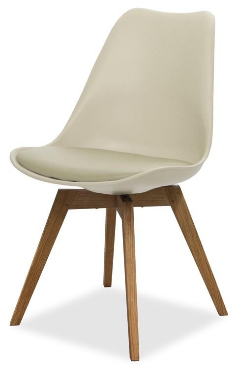 Jídelní židle GINA 9301-883+BESS 9317-054 (béžová,dub)