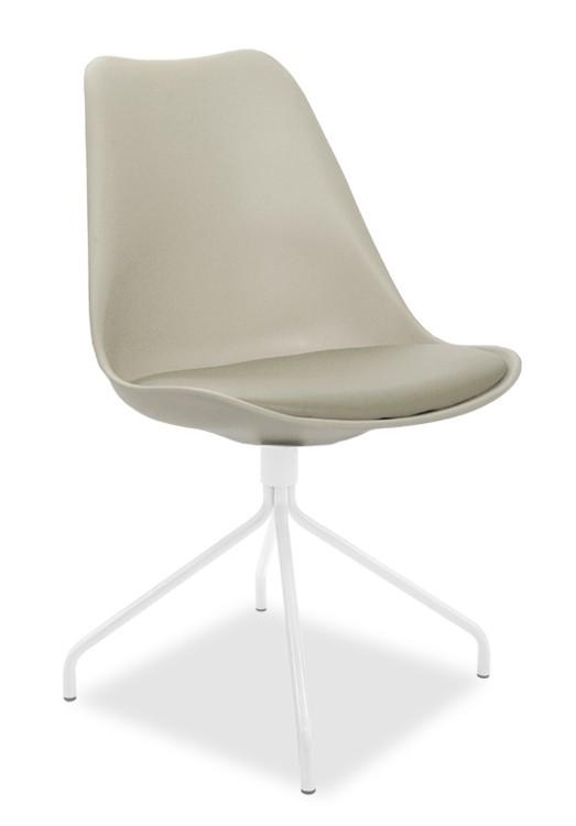 Jídelní židle GINA 9301-883+EGO 9319-801 (béžová,bílá)