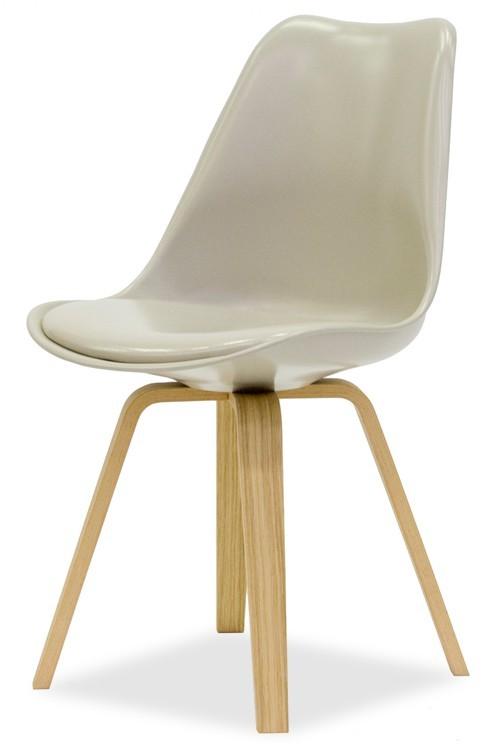 Jídelní židle GINA 9301-883+ELLA 9318-054 (béžová,dub)