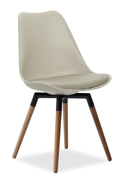 Jídelní židle GINA 9301-883+FIDO 9315-154 (béžová,černá,dub)