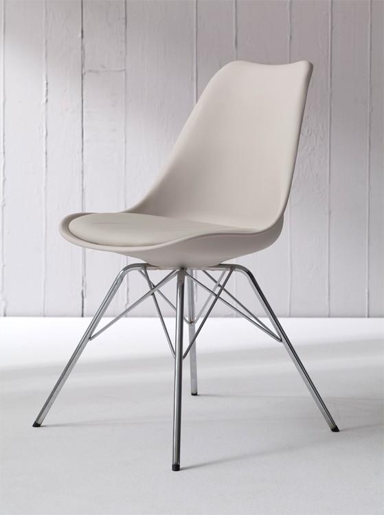 Jídelní židle GINA 9301-883+PORGY 9316-091 (béžová,chrom)